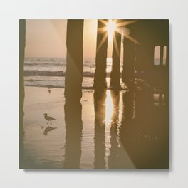 Beach Reflection Photography Print Metal Print
