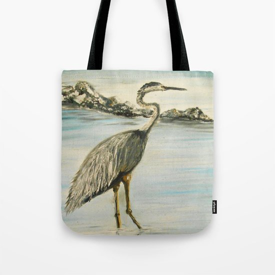 Great Blue Heron in Oil by rokinronda