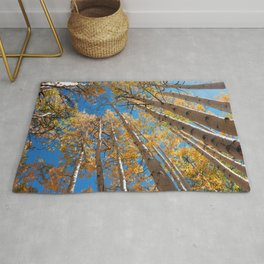 Aspen Trees Against The Sky In Crested Butte, Colorado for #Society6 Rug