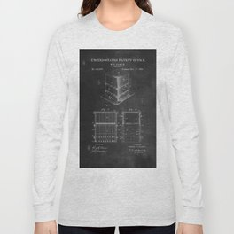 Beehive Patent with Bees Long Sleeve T-shirt