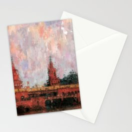 Oberbaumbrücke Berlin City Painting / impressionism style Illustration  / abstract landmarks drawing Stationery Cards