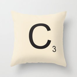 Scrabble C Throw Pillow