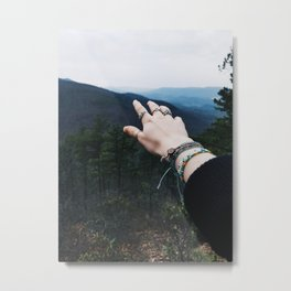 Reaching for Mountains Metal Print
