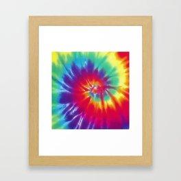 Tie Dye Swirl Pattern Framed Art Print