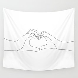 Hand Heart Wall Tapestry
