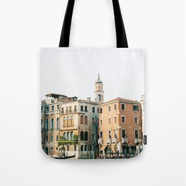 Travel photography   Architecture of Venice   Pastel colored buildings and the canals   Italy Tote Bag