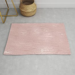 Metallic Rose Gold Blush Rug