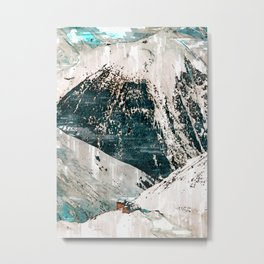 Snowy Mountain Cottage In Austria. For Mountain Lovers.  Metal Print