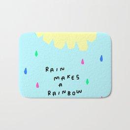 Rain Makes A Rainbow - pastel colorful illustration nursery kids room art Bath Mat
