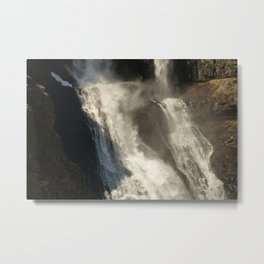 Icelandic Waterfall in the Evening Metal Print
