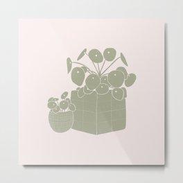 Neutrals / Pilea Plants Metal Print