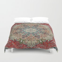 Antique Red Blue Black Persian Carpet Print Duvet Cover