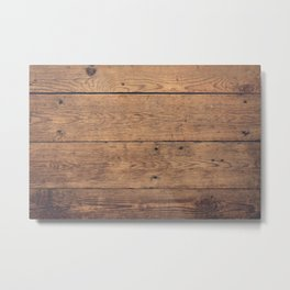 Wooden pattern Metal Print