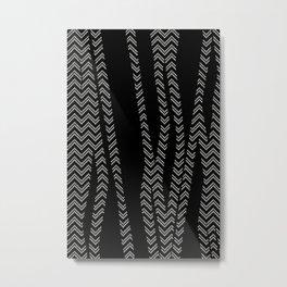 Chevron and Zebra Metal Print