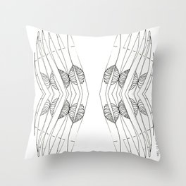 SLIVER WINGS Throw Pillow