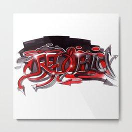 Graffiti red and black Metal Print