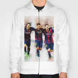 MessiNeymar Suarez Digital Download Print Barcelona Football Sport Gifts Wall Art Home Decor Hoody