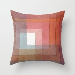 1930 - Polyphonic Setting for White by Paul Klee Throw Pillow