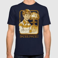 SCIENCE! Navy LARGE Mens Fitted Tee