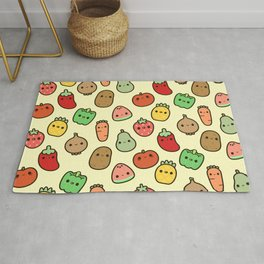 Cute fruit and veg Rug