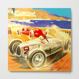 Vintage 1936 Monaco Grand Prix Racing Wall Art Metal Print