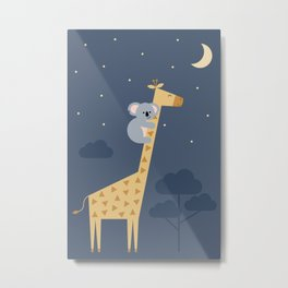 Reach for the stars, don't be afraid to ask for help Metal Print