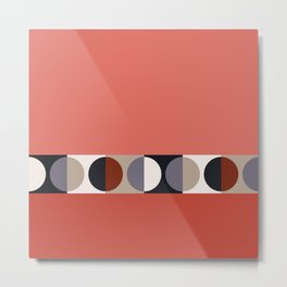 malevich moon || tomato pink Metal Print
