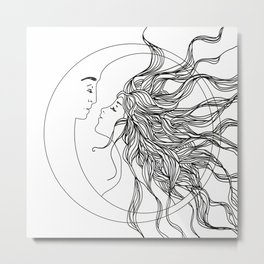 Sun and Moon II Metal Print