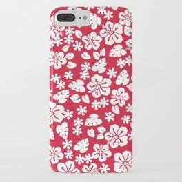Hawaiian Hibiscus Flower pattern red iPhone Case