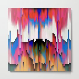 Melted Rainbow of colors abstract Metal Print
