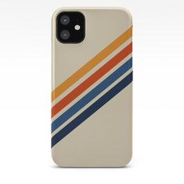 Rainbow 70s 60s Stripe Colorful Rainbow Tan Retro Vintage iPhone Case