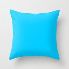 Solid Color Aqua Blue Throw Pillow
