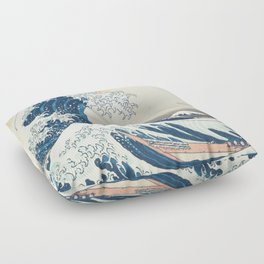 The Great Wave off Kanagawa by Katsushika Hokusai from the series Thirty-six Views of Mount Fuji Floor Pillow