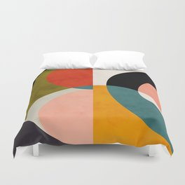 geometry shapes 3 Duvet Cover