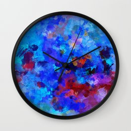 Abstract Seascape Painting Wall Clock