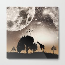 Nature silhouettes Metal Print
