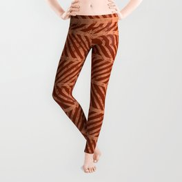 Herringbone Rust and Peach Leggings