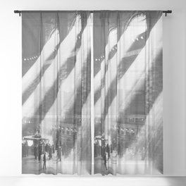 1935 Vintage New York City Grand Central Terminal Photographic Print Sheer Curtain