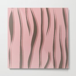 Minimal Stripe Pattern Metal Print