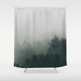 Forest Covered With Fog Shower Curtain
