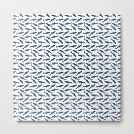 Whale Shark Pattern Metal Print