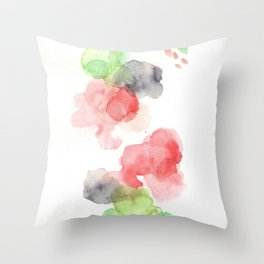 170714 Abstract Watercolour Play 15  Modern Watercolor Art   Abstract Watercolors Throw Pillow