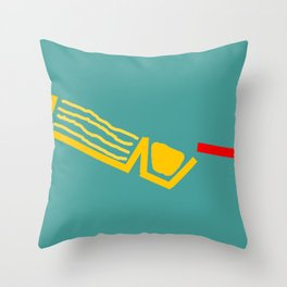 red stick/ crackers with cheese Throw Pillow