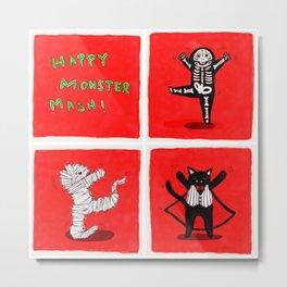 Happy Monster Mash! Metal Print