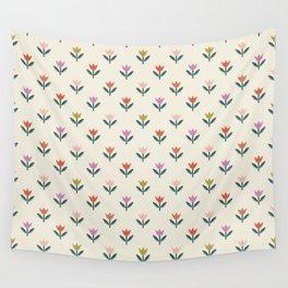Tulip Field - Cream Wall Tapestry