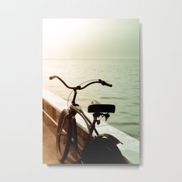 Beach Bicycle at the Marina Metal Print