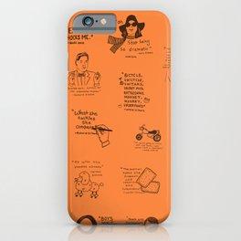 Gilmore Girls Quotes in Orange iPhone Case