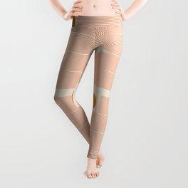 Abstraction_SUN_LINE_ART_Minimalism_002 Leggings