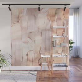 Shiny Metal Copper Hand Drawn Strokes Wall Mural