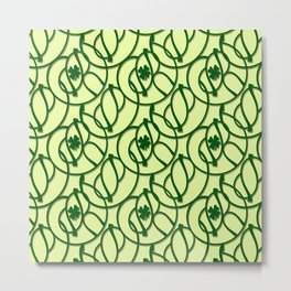 St. Patrick's Day Clovers Metal Print